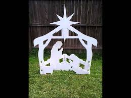 Nativity Outdoor Decorations Christmas Outdoor Nativity Yard Display Set Youtube