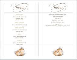 free thanksgiving menu template serive menu