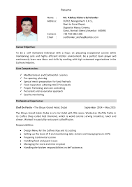 Executive Chef Resume Sample Chef S Resume Virtren Com