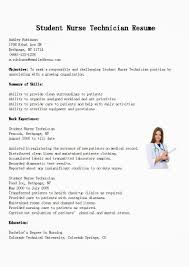 X Ray Tech Resume Sample by Nurse Tech Resume Images Reverse Search