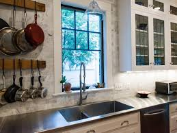 interior photo of plate steel countertops with electric cooktop