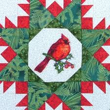 cardinal wall hanging with machine embroidery advanced