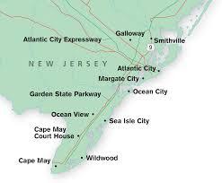Ocean City Map Gems Of The Jersey Shore Www Trailerlife Com