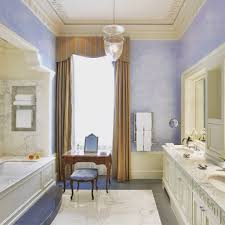 Bathroom With Shower Curtains Ideas by Soft Blue Wall Color With Brown Shower Curtain Ideas For