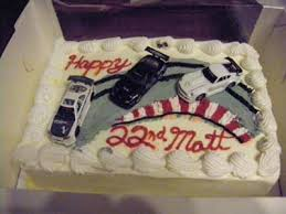 cake with cars drifting