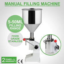 manual foodsaver manual liquid filling machine bottling stainless steel cream