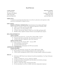 Resume Examples Accounting Jobs by Accounting Intern Resume Berathen Com