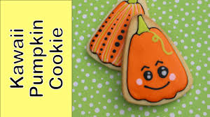 how to make a halloween cookie kawaii pumpkin cookie youtube