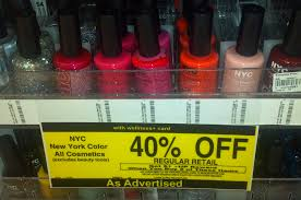 rite aid deal 40 off nyc cosmetics 09 nail polish ftm