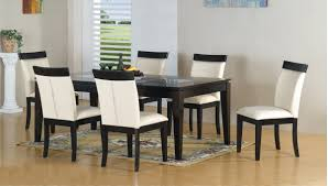 adorable and modern dining table design with rectangular glass top