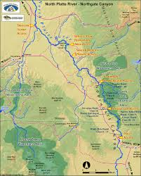 Wy Map North Platte River Map Northgate Canyon Colorado Wyoming Rafting