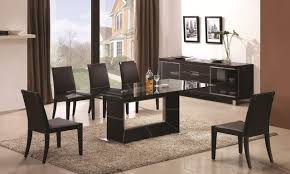 Glass Top Dining Room Table And Chairs by Dining Room Best Compositions San Vicente Glass Top Rectangular