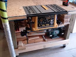 Rolling Work Bench Plans Furniture Garage Storage Design With Oak Wood Rolling Workbench