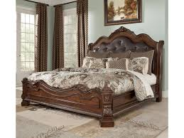 King Size Bed Dimensions Height Millennium Ledelle Traditional King Bed With Sleigh Headboard