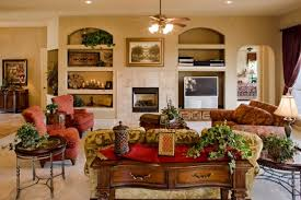 Tuscany Great Room By Sitterle Homes Mediterranean Family Room - Tuscan family room