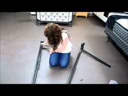 how to put a bed frame together youtube