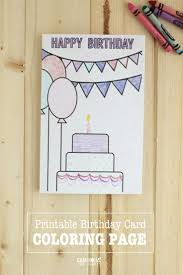 printable birthday cards coloring page printable birthday