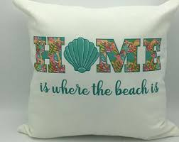 Seashore Decorative Pillows Beach Pillow Etsy