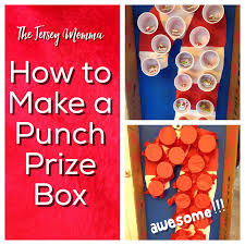 the jersey momma how to make a punch prize box for class parties