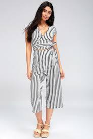 white romper jumpsuit chic blue and white striped jumpsuit wrap culotte jumpsuit