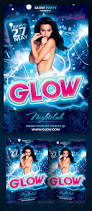 glow party flyer template psd by yellow emperor graphicriver