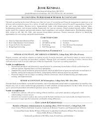 Senior Accountant Resume Examples by Cover Letter Staff Accountant Resume Examples Staff Accountant