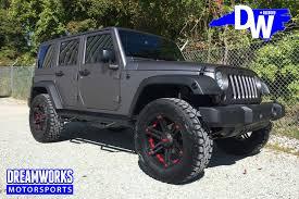 matte grey jeep wrangler matte gray jeep wrangler by dreamworks motorsports dreamworks
