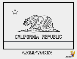 Califirnia Flag Awesome California Flag Coloring Page Coloring Pages