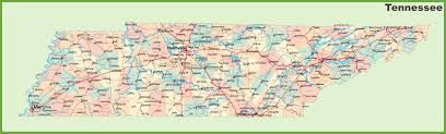 Kentucky Tennessee Map by Road Map Of Tennessee With Cities