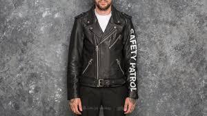 leather biker jacket soulland richenback heavy leather biker jacket black footshop