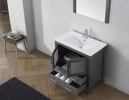virtu usa dior 32 single bathroom vanity set in zebra grey