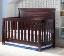 Espresso Baby Crib by Simmons Kids Slumbertime Rowen 4 In 1 Convertible Baby Crib Black