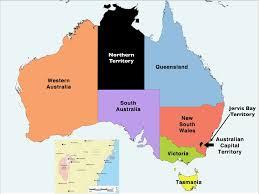 states australia map territories of australia map major tourist attractions