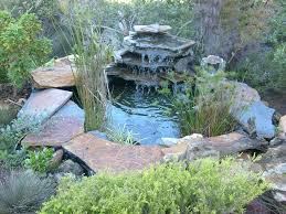 backyard waterfall pond kits outdoor features pondless unusual