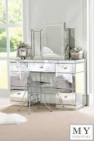 Mirrored Furniture For Bedroom by Large Toughened Mirrored Furniture Dressing Console Table Desk