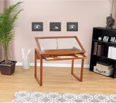 Drafting Table Storage Drawing Drafting Table Craft Desk Storage Wood Glass Top