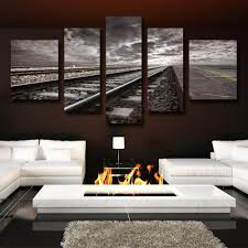 online get cheap scenery wall painting murals aliexpress com 5 with creative photography scenery wall painting murals printed canvas oil painting wall pictures for living
