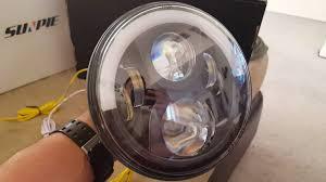 2012 jeep wrangler headlights sunpie led headlights 7 half halo on a 2012 jeep wrangler