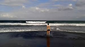 Black Sand Beaches by Black Sand Beach Bali Indonesia Youtube