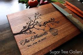 cutting board engraved personalized cutting board wedding established by sugartreegallery