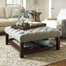 Cushion Ottoman Cushion Coffee Table Stylish Upholstered Ottoman Luxury For Best