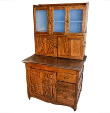 antique oak hoosier cabinet ebth