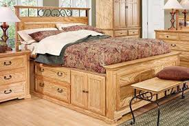 Queen Size Bed With Storage Thornwood Queen Size Captain Bed With Storage