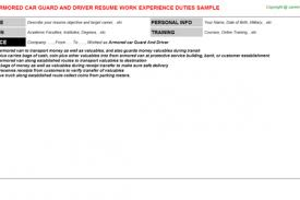 Sample Resume For Truck Driver by Armored Truck Resume Reentrycorps