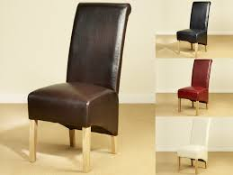 Scroll Back Leather Dining Chairs Chair Design Ideas Classic Dining Chairs Leather Ideas Dining