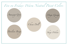 neutral paint colors five on friday warm neutral paint colors happymeetshome