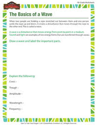 the basics of a wave 7th grade worksheet of dragons