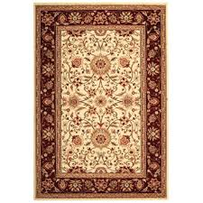 Home Depot Wool Area Rugs Safavieh Lyndhurst Ivory Red 6 Ft X 9 Ft Area Rug Lnh212k 6