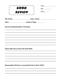 high school book report template image result for book review template department ideas