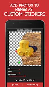Meme Generator App - meme generator app report on mobile action